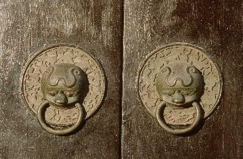 A Pair of Bronze Door-Ring (Diaoke Lou)